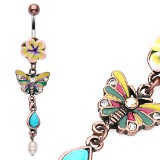 Piercing nombril papillon vintage (46)