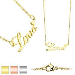 Collier en acier 07 - Love gold-ip