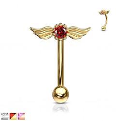 Piercing arcade 12 - Cristal avec des ailes