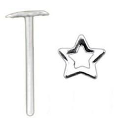 Piercing nez pliable 0.5mm 18 - étoile creuse