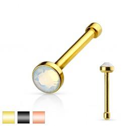 Piercing nez droit 0,8mm 93 - PVD opalite