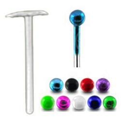 Piercing nez pliable 0.5mm 32 - Anodisé titane
