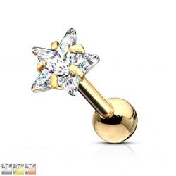 Cartilage hélix, tragus 397 - Gold-ip zircone étoile