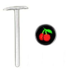 Piercing nez pliable 0.5mm 45 - Logo cerise