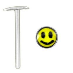 Piercing nez pliable 0.5mm 49 - Logo smiley