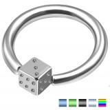 Piercing anneau 1,6mm 77 - Acier dé