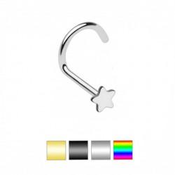 Piercing nez courbé 0.8mm 14 - PVD étoile