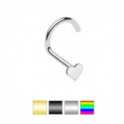 Piercing nez courbé 0.8mm 13 - PVD coeur