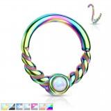 Piercing micro-bcr 56 - PVD vrillé opale
