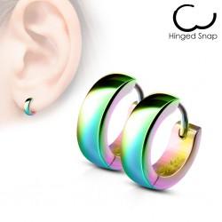 Anneaux oreilles acier 11 - Rainbow
