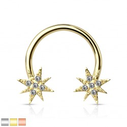 Piercing micro-circulaire 16 - Etoile gold-ip