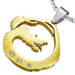 Pendentif animal 06 - Dragon Gold-IP