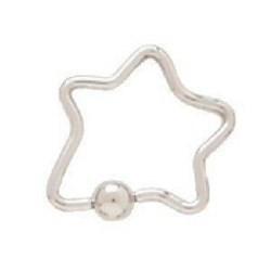 Piercing anneau 1,6mm 59 - étoile