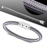 Bracelet cable 01 - Gris tréssé