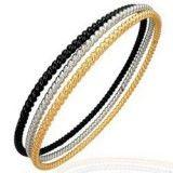 Bracelet cable 05 - Noir, jaune et argent
