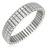 Bracelet acier flex 02 - Simple une ligne centrale