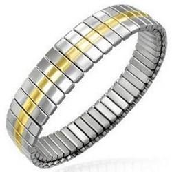 Bracelet acier flex 03 - Ligne jaune au centre