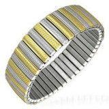 Bracelet acier flex 08 - Large Gold-ip et acier