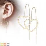 Crochets en acier 12 - Chaînette coeur