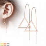 Crochets en acier 04 - Chainette et triangle creux