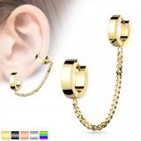 Chaine pour oreille 34 - PVD anneaux