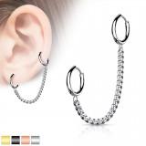 Chaine pour oreille 39 - Deux anneaux