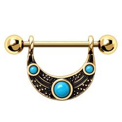 Piercing téton gold-ip vintage gem aurora (31)