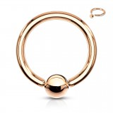 Piercing anneau 1,6mm 59 - Gold-ip rose