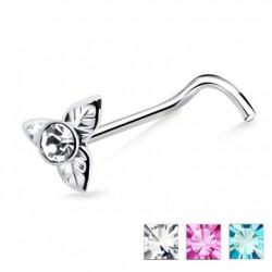 Piercing nez screw 0.5mm 38 - Fleur trois pétales