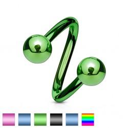 Piercing spirale 14 - PVD boules