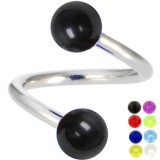Piercing spirale 02 - UV unicolore pointes