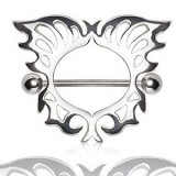 Piercing téton en forme d'ange (04)