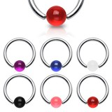 Piercing anneau 1,6mm 08 - UV unicolore