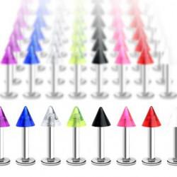 Piercing labret UV 08 - Unicolore pointe