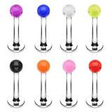 Piercing labret UV 02 - Unicolore boule