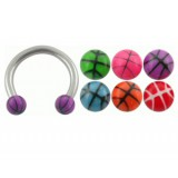 Piercing micro-circulaire 22 - UV basket boules