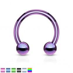 Piercing fer à cheval 05 - PVD boules