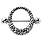 Piercing téton cercle entrelacé (73)