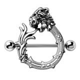 Piercing téton cercle dragon deluxe (74)