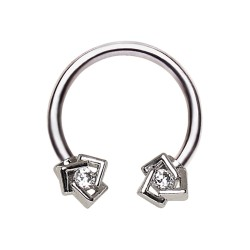 Piercing micro-circulaire 08 - Cristal transparent deluxe