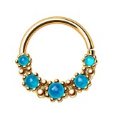 Piercing micro-bcr 205 - Cinq gems bleus