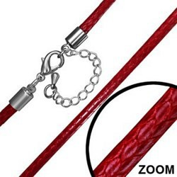 Cordon 06 vinyle rouge 3mm
