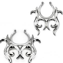 Faux-piercing pour téton 29 - Tribal