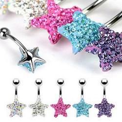 Piercing nombril cristal 28 - Férido étoile