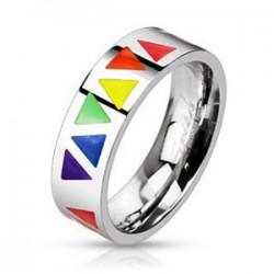 Bague gay-pride 08 - Triangles
