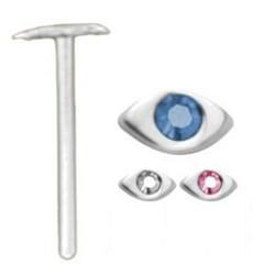 Piercing nez pliable 0.5mm 51 - Oeil avec strass