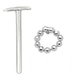 Piercing nez pliable 0.5mm 59 - Esclave avec perles