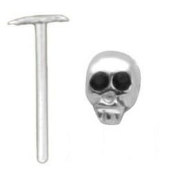 Piercing nez pliable 0.5mm 63 - Tête de mort