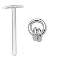 Piercing nez pliable 0.5mm 66 - Esclave deux anneaux