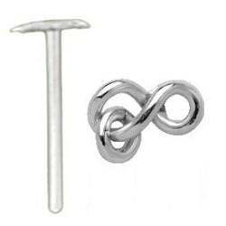 Piercing nez pliable 0.5mm 72 - Infini avec anneau